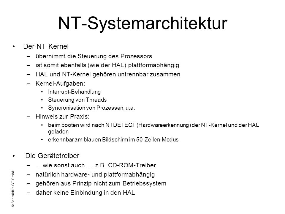 NT-Systemarchitektur