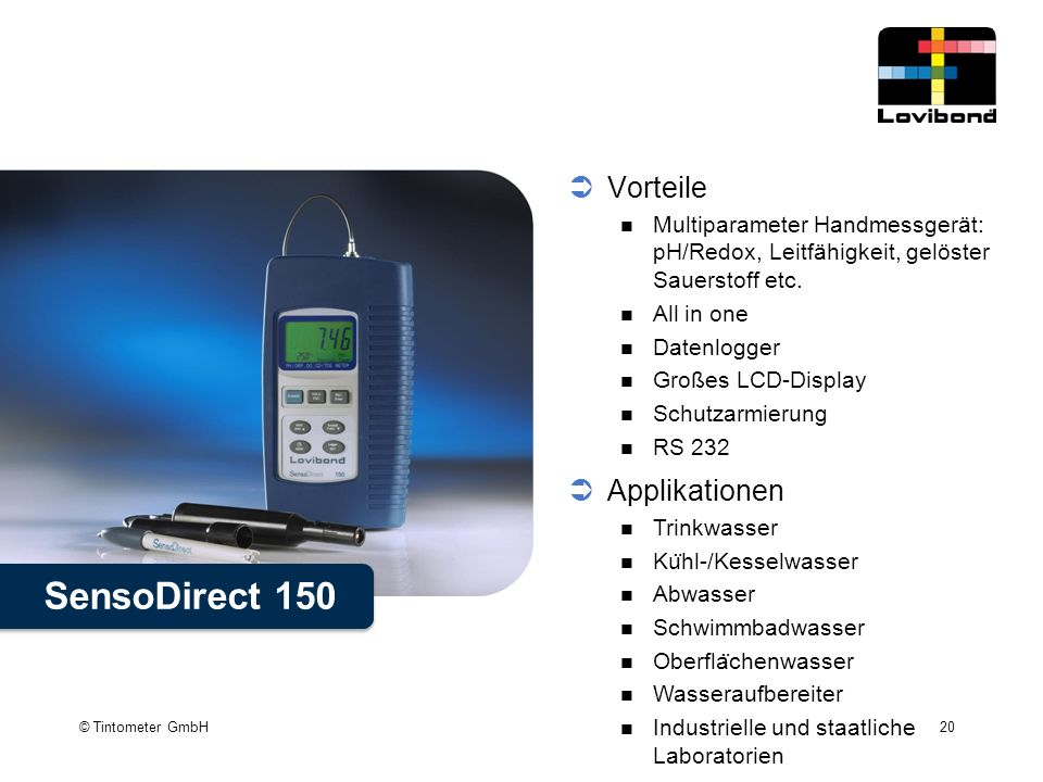 SensoDirect 150 Vorteile Applikationen