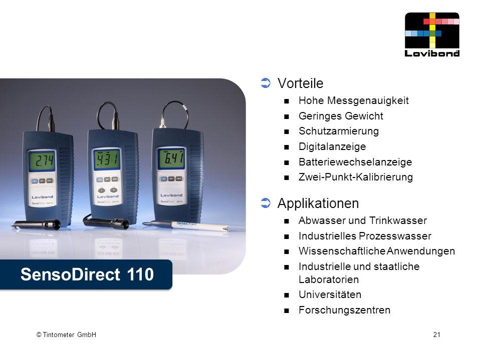 SensoDirect 110 Vorteile Applikationen Hohe Messgenauigkeit