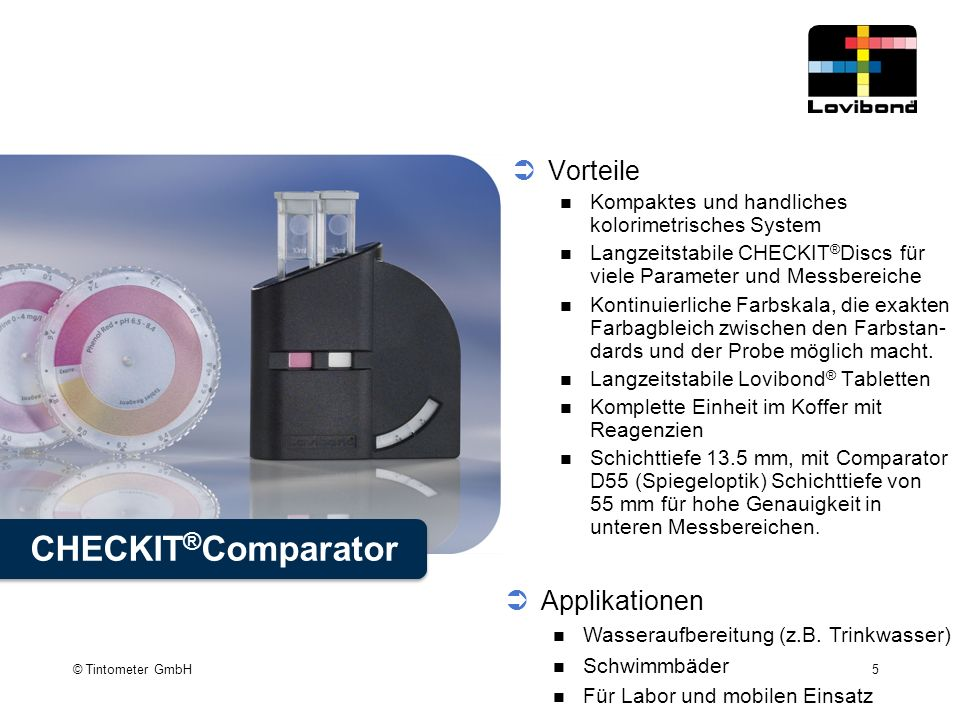CHECKIT®Comparator Vorteile Applikationen