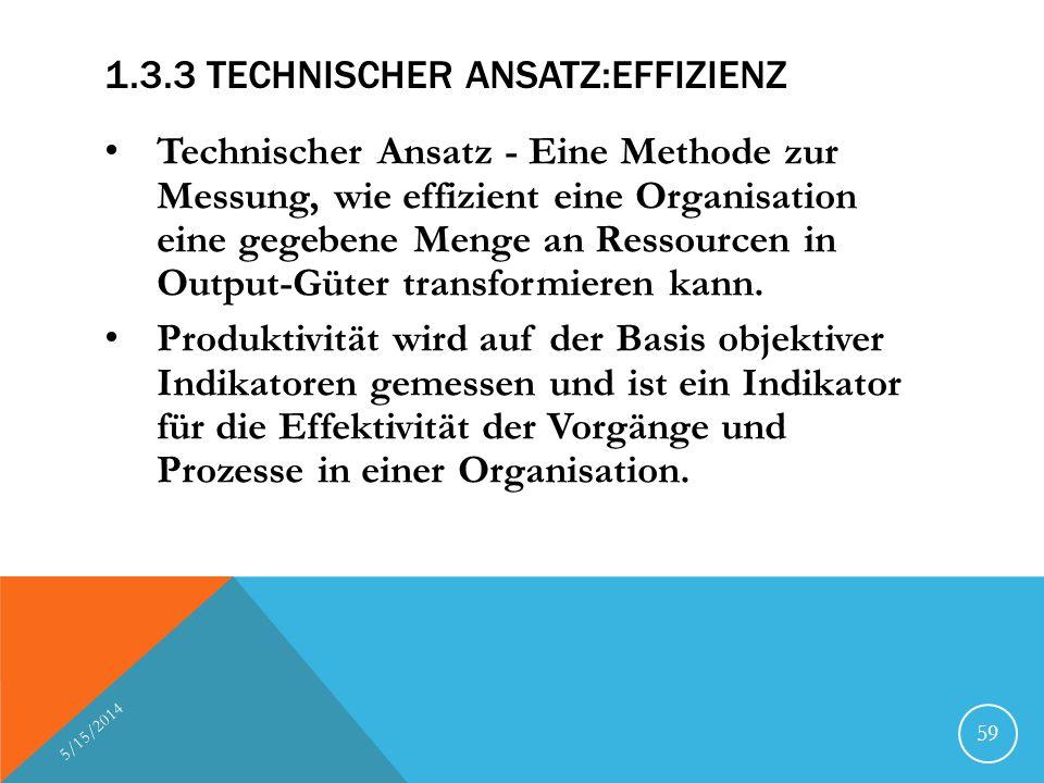 1.3.3 Technischer Ansatz:Effizienz