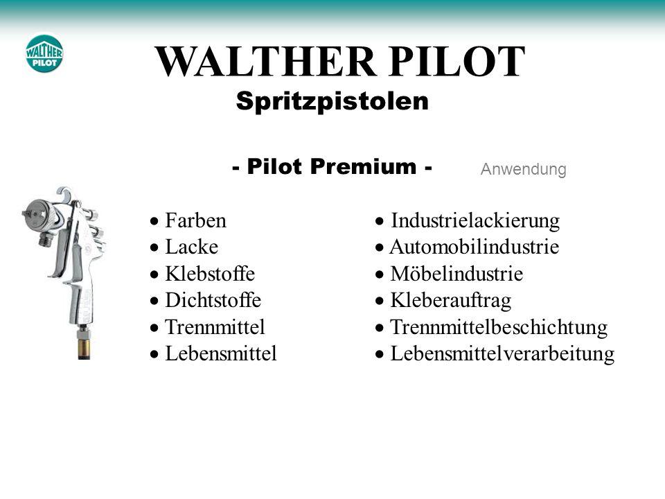 WALTHER PILOT Spritzpistolen - Pilot Premium -  Farben  Lacke
