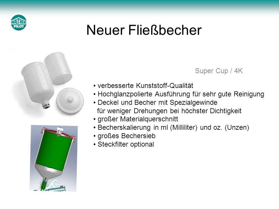 Neuer Fließbecher Super Cup / 4K verbesserte Kunststoff-Qualität