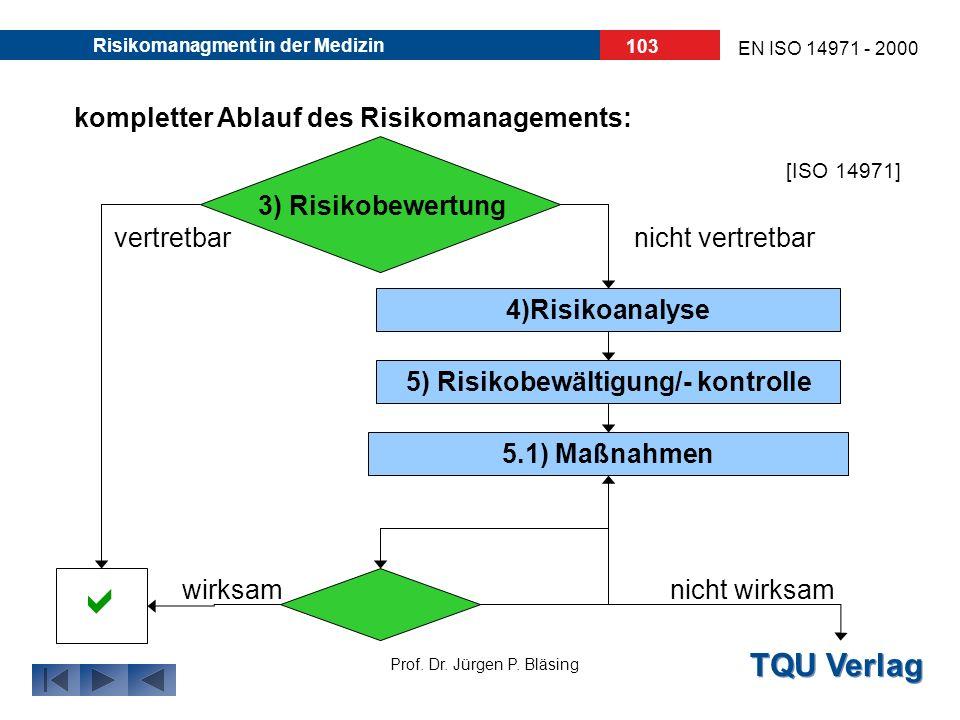 5) Risikobewältigung/- kontrolle