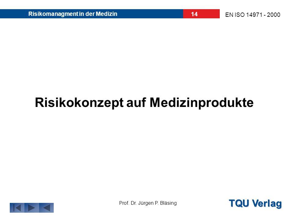 Risikokonzept auf Medizinprodukte