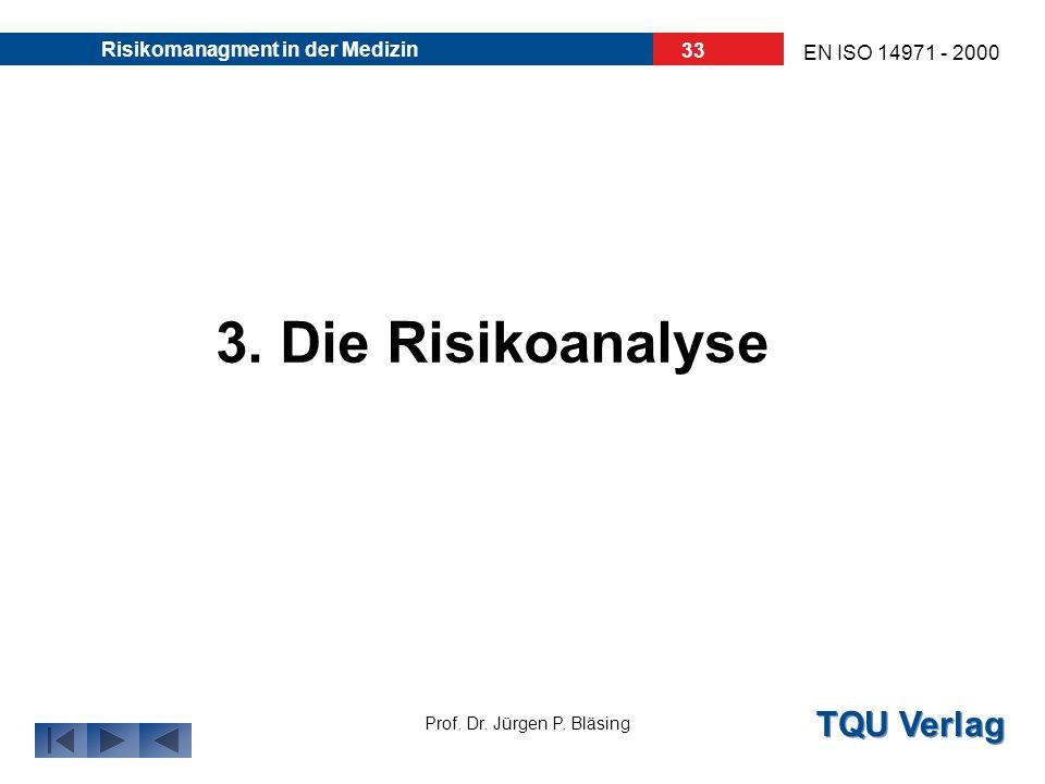 30.03.2017 Risikomanagment in der Medizin 3. Die Risikoanalyse
