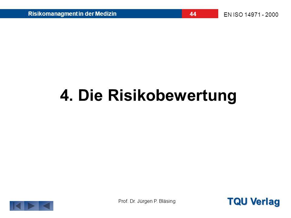 30.03.2017 Risikomanagment in der Medizin 4. Die Risikobewertung