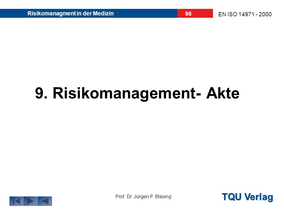 9. Risikomanagement- Akte