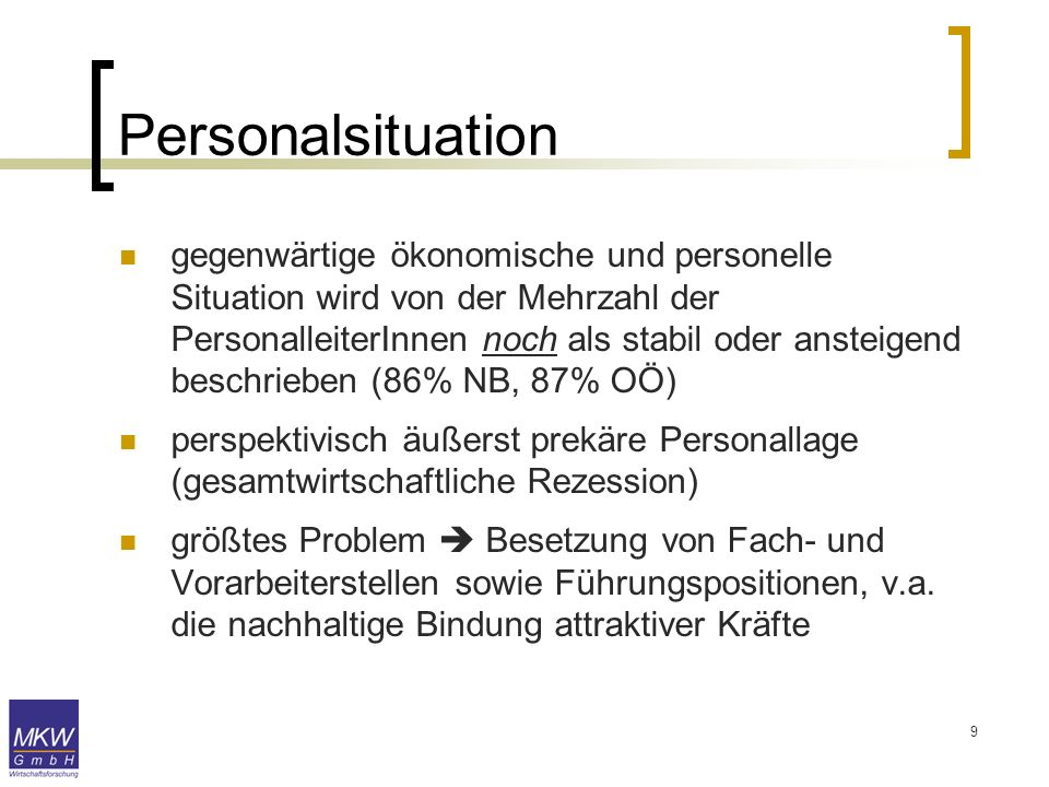 Personalsituation