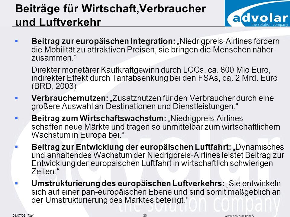 Beiträge für Wirtschaft,Verbraucher und Luftverkehr