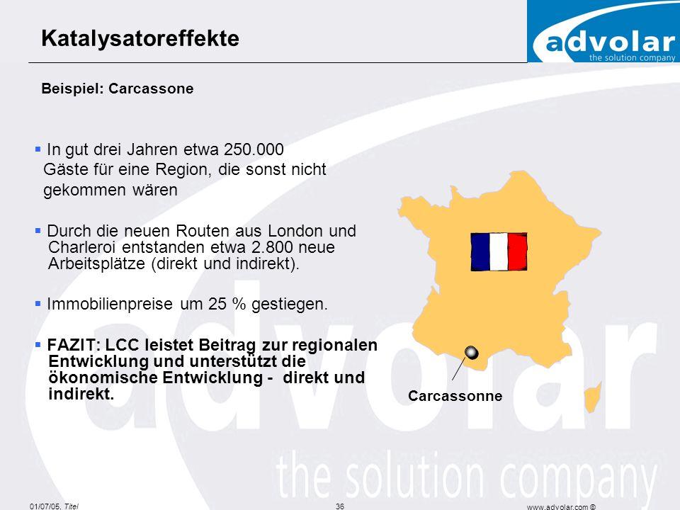 Katalysatoreffekte Beispiel: Carcassone