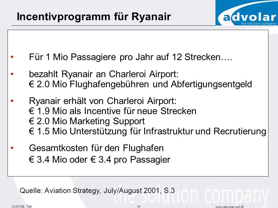 Incentivprogramm für Ryanair