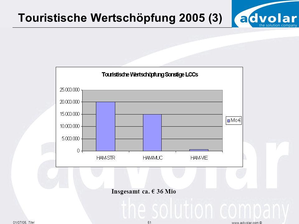 Touristische Wertschöpfung 2005 (3)