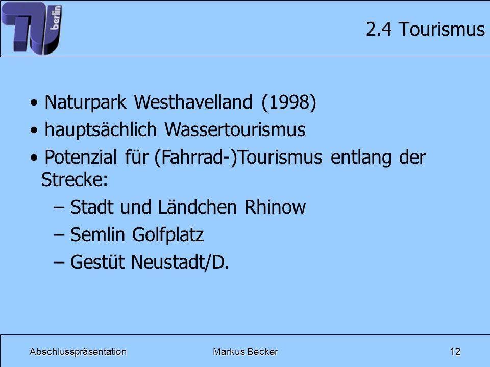 Naturpark Westhavelland (1998) hauptsächlich Wassertourismus