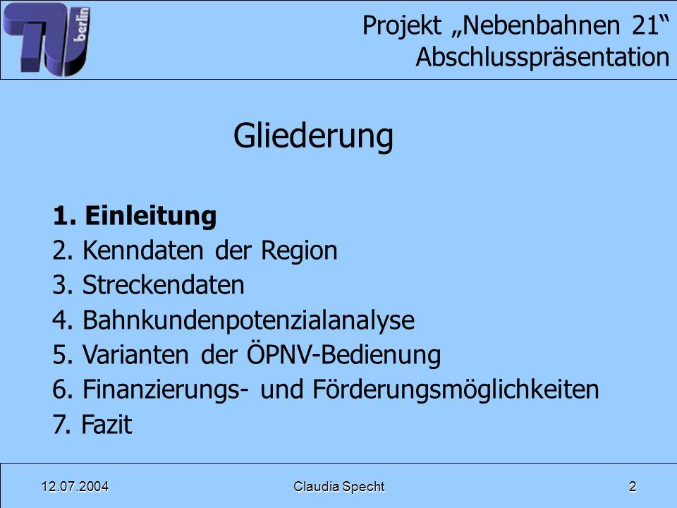 """Projekt """"Nebenbahnen 21 Abschlusspräsentation"""