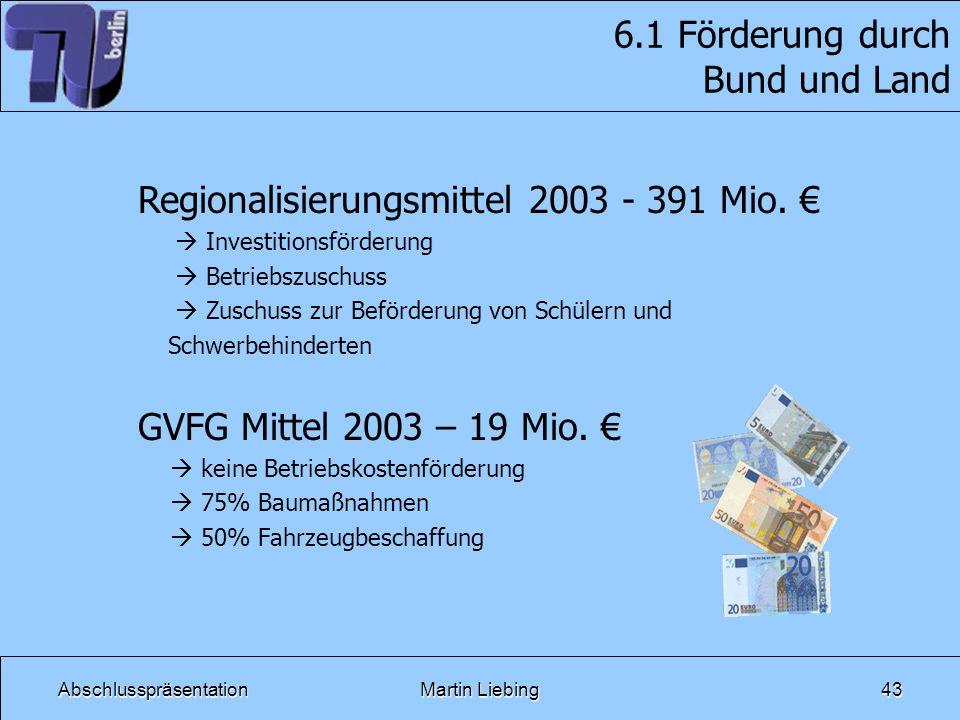 6.1 Förderung durch Bund und Land
