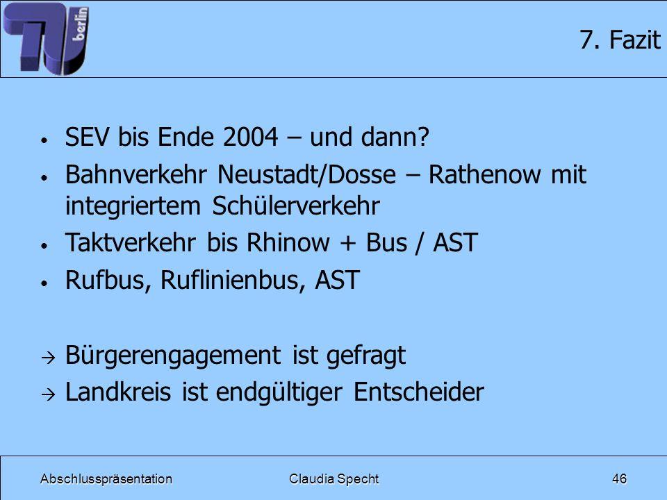 Bahnverkehr Neustadt/Dosse – Rathenow mit integriertem Schülerverkehr
