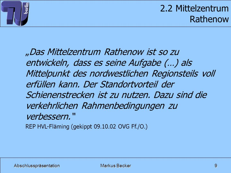2.2 Mittelzentrum Rathenow