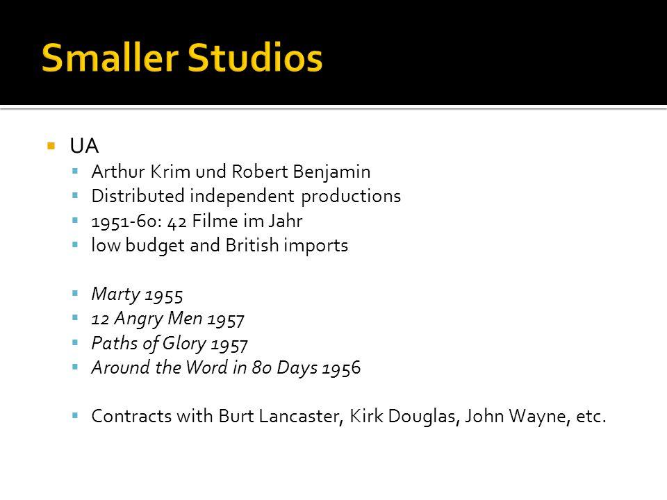 Smaller Studios UA Arthur Krim und Robert Benjamin