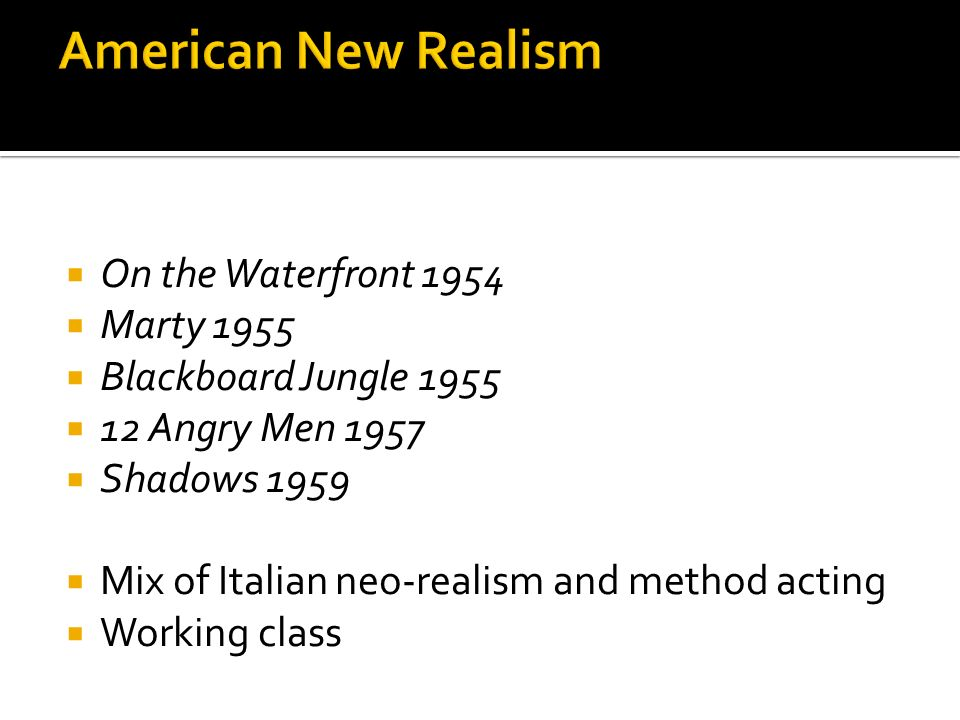 American New Realism On the Waterfront 1954 Marty 1955