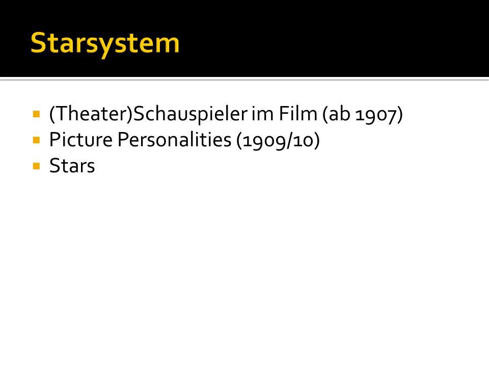 Starsystem (Theater)Schauspieler im Film (ab 1907)