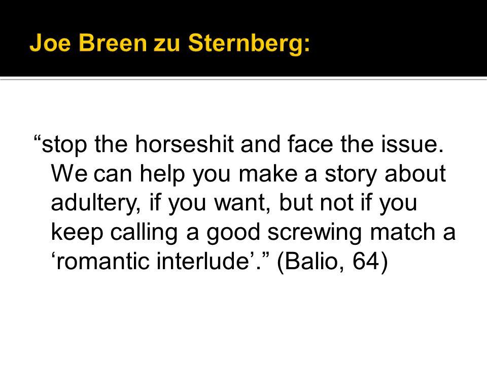 Joe Breen zu Sternberg:
