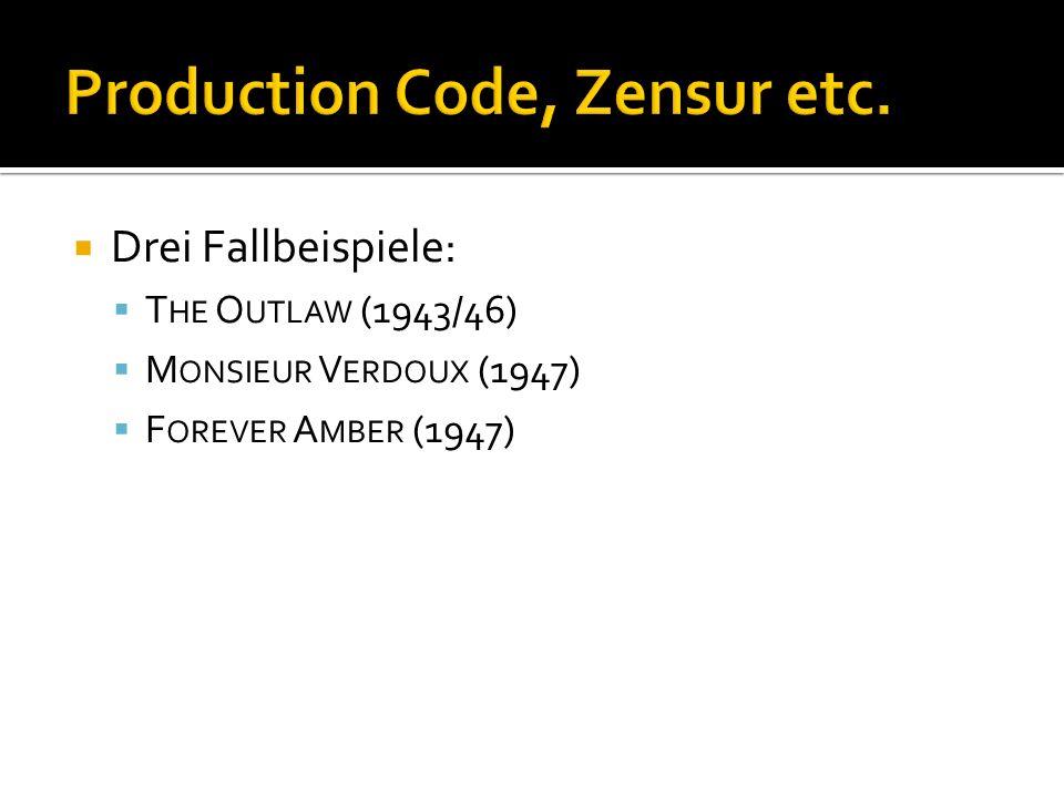 Production Code, Zensur etc.
