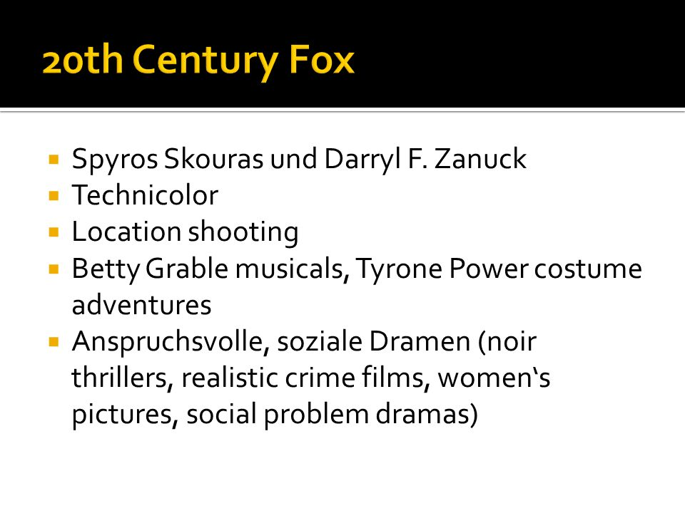 20th Century Fox Spyros Skouras und Darryl F. Zanuck Technicolor