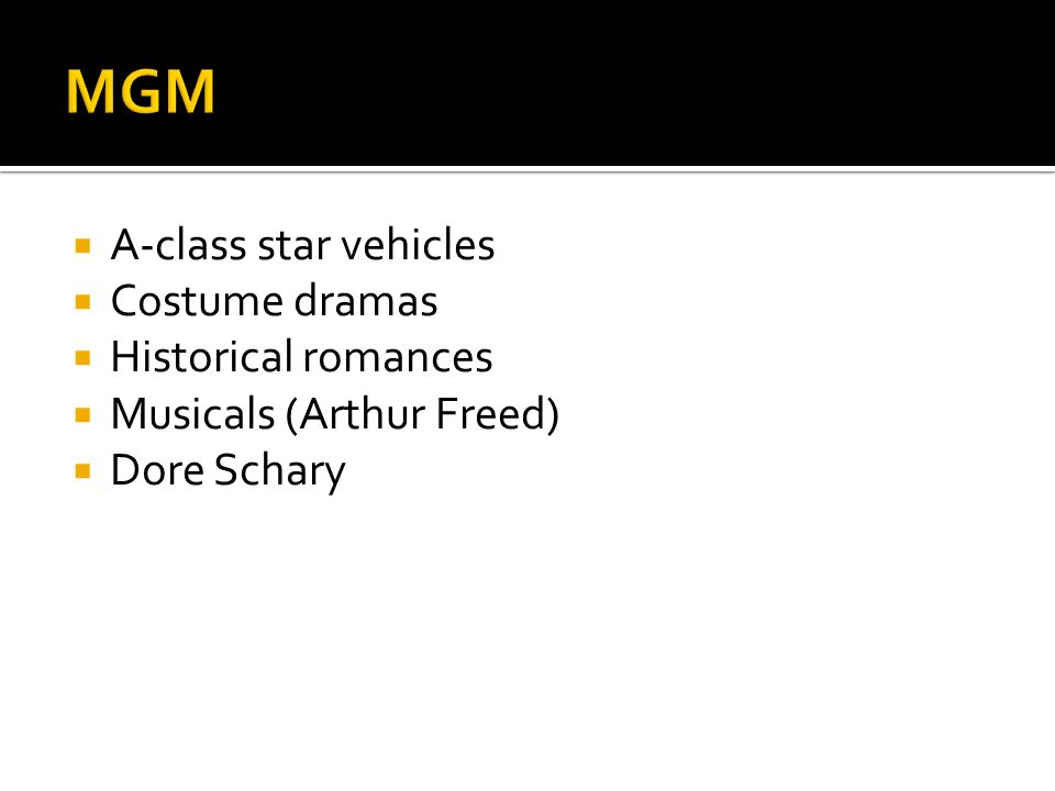 MGM A-class star vehicles Costume dramas Historical romances