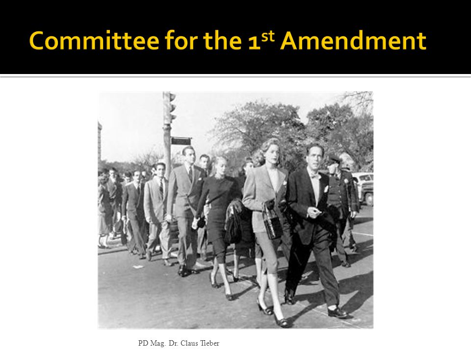 Committee for the 1st Amendment