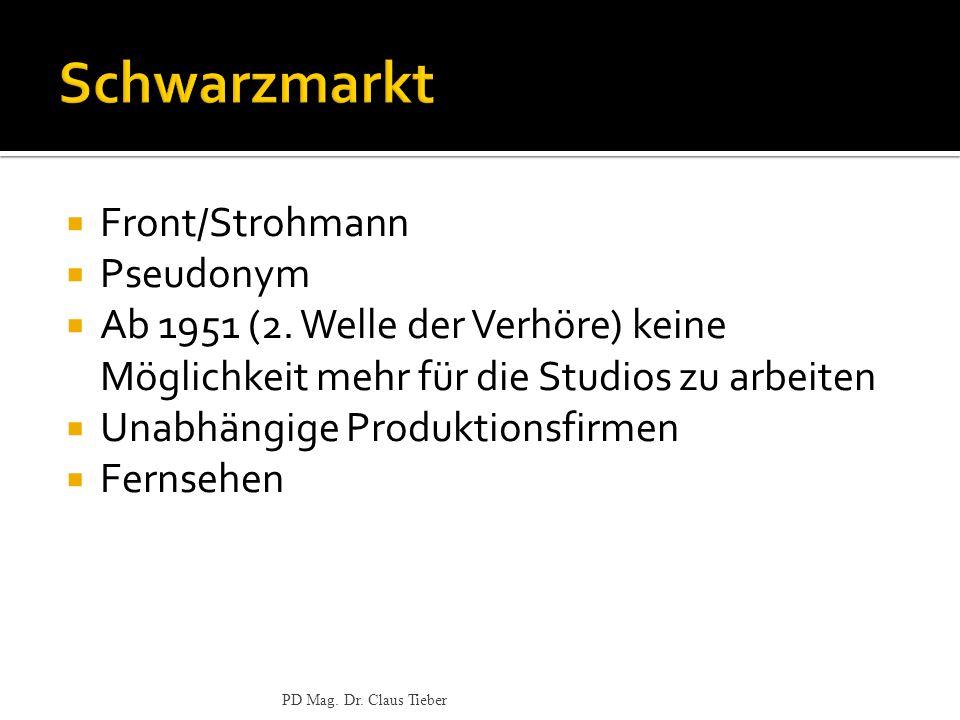 Schwarzmarkt Front/Strohmann Pseudonym