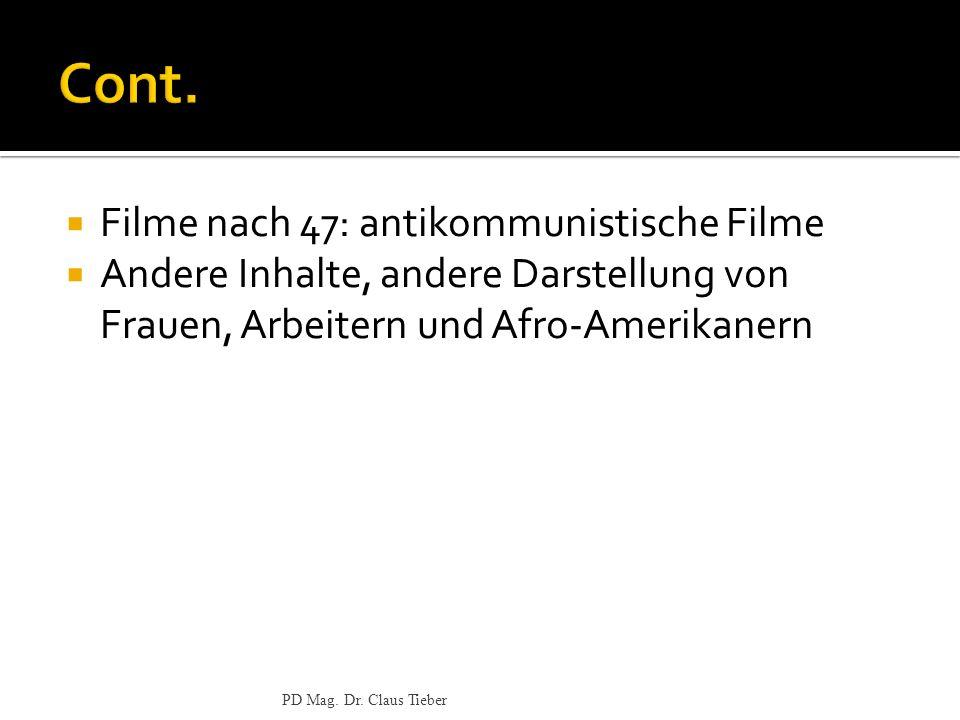 Cont. Filme nach 47: antikommunistische Filme