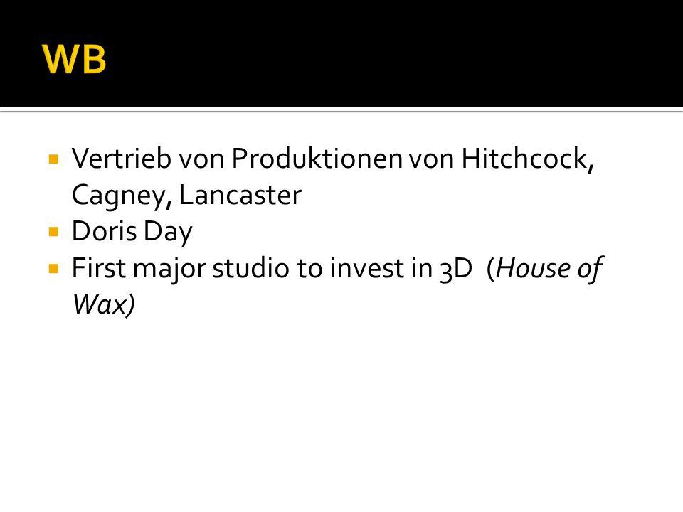 WB Vertrieb von Produktionen von Hitchcock, Cagney, Lancaster