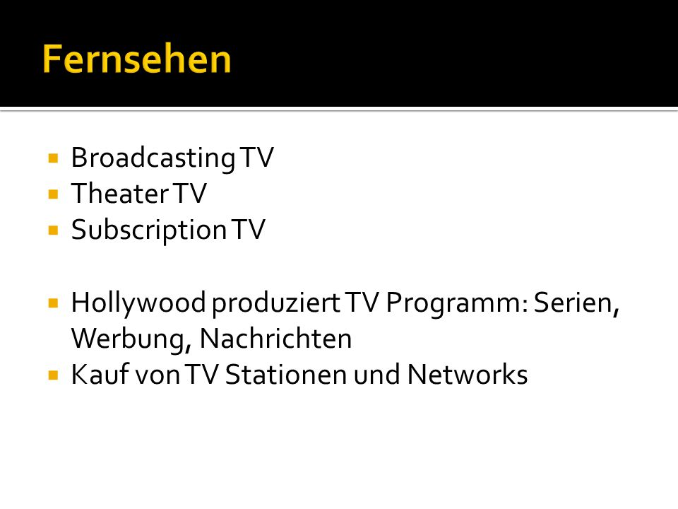 Fernsehen Broadcasting TV Theater TV Subscription TV
