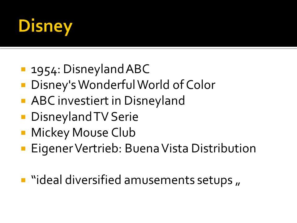 Disney 1954: Disneyland ABC Disney s Wonderful World of Color