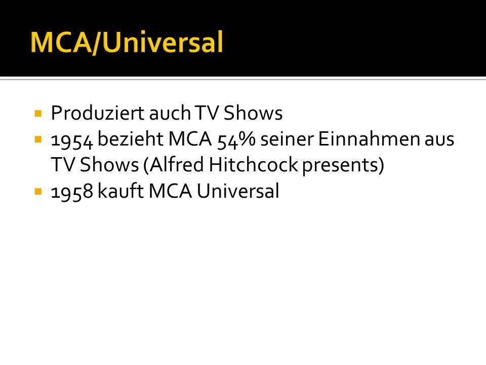 MCA/Universal Produziert auch TV Shows