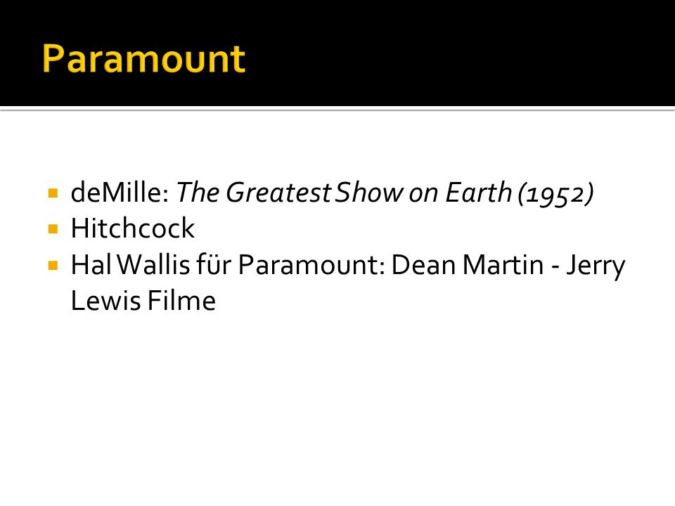 Paramount deMille: The Greatest Show on Earth (1952) Hitchcock