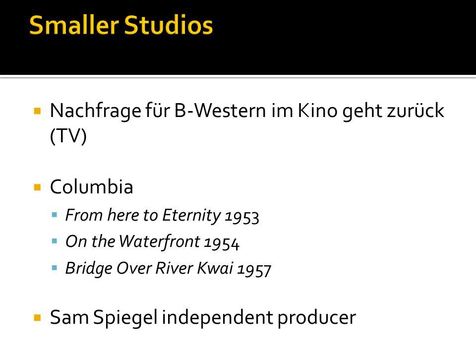 Smaller Studios Nachfrage für B-Western im Kino geht zurück (TV)