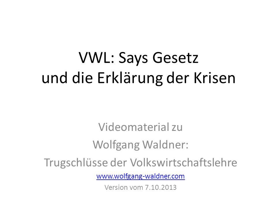 VWL: Says Gesetz und die Erklärung der Krisen