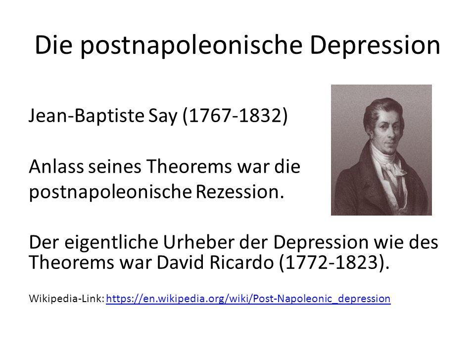 Die postnapoleonische Depression