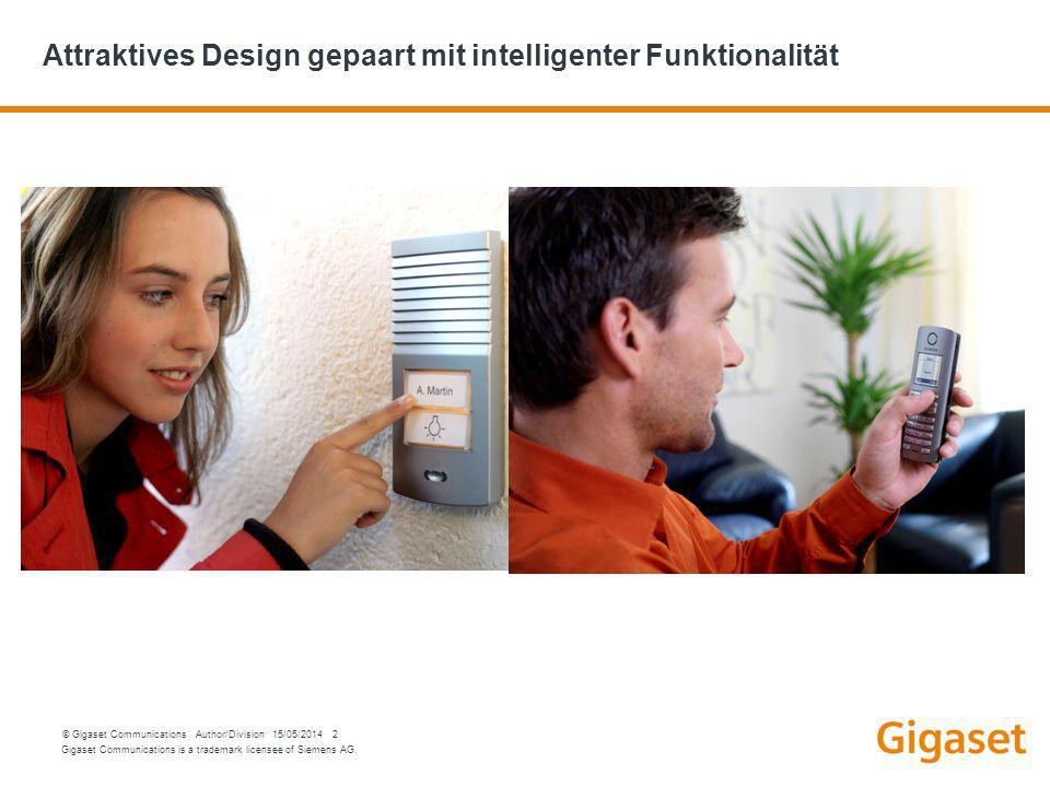 Attraktives Design gepaart mit intelligenter Funktionalität