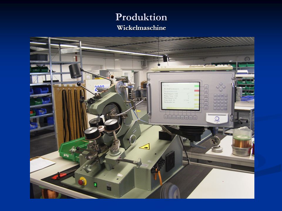 Produktion Wickelmaschine