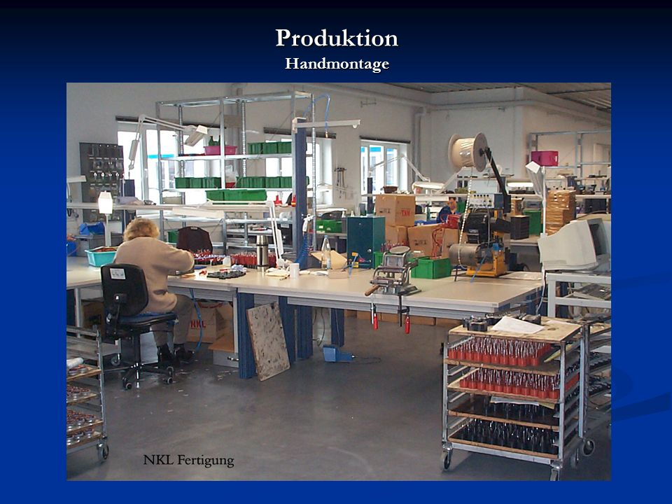 Produktion Handmontage