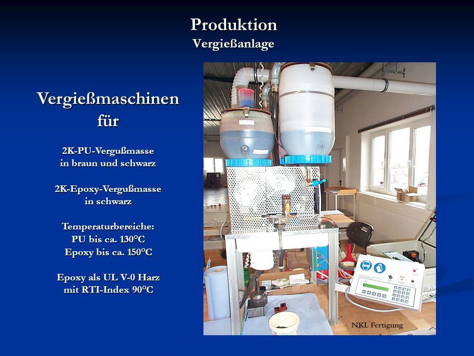 Produktion Vergießanlage