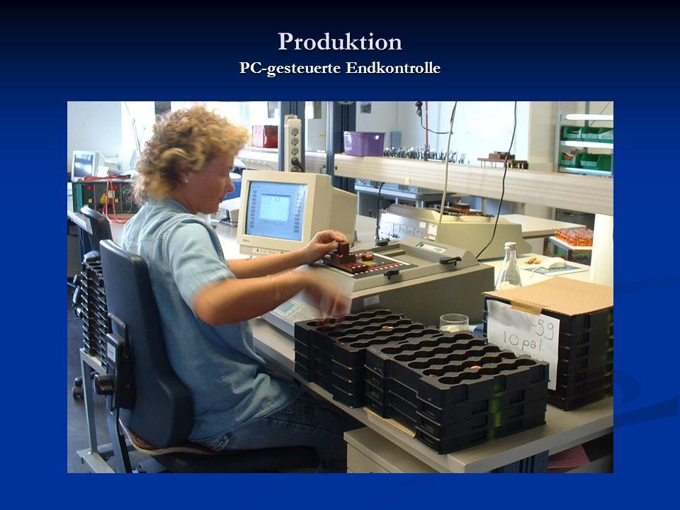 Produktion PC-gesteuerte Endkontrolle
