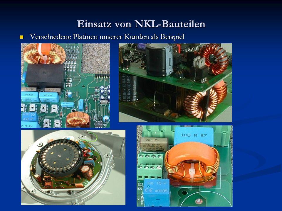 Einsatz von NKL-Bauteilen