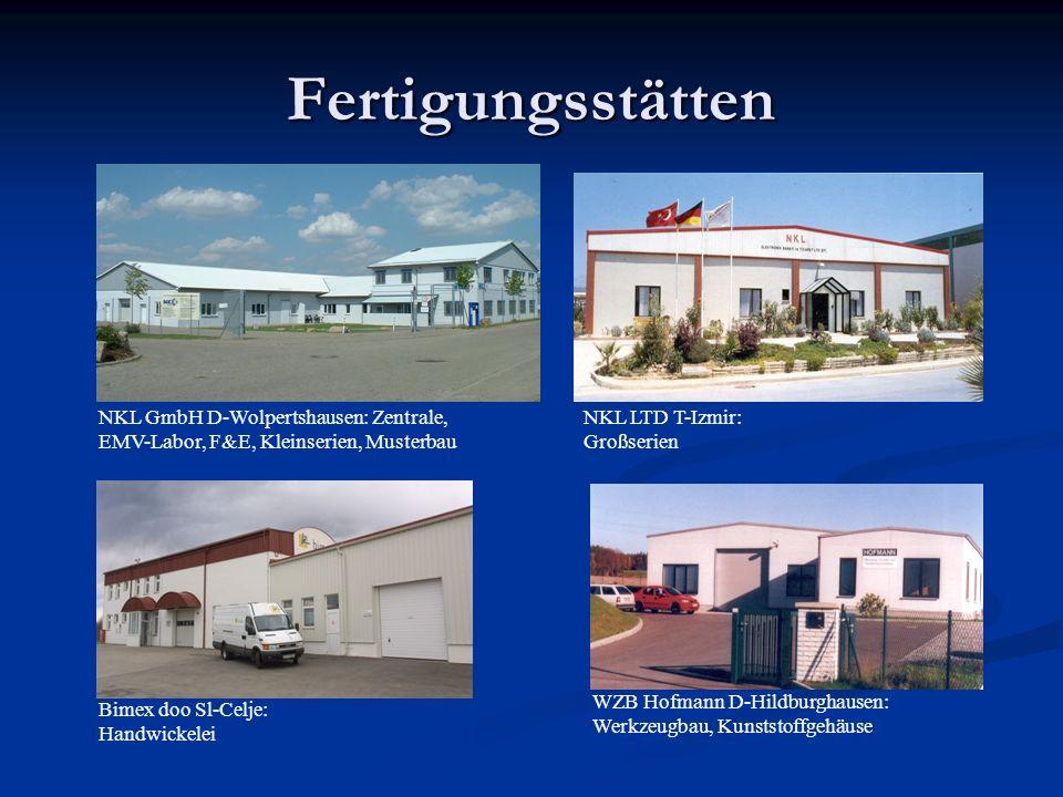 Fertigungsstätten NKL GmbH D-Wolpertshausen: Zentrale,