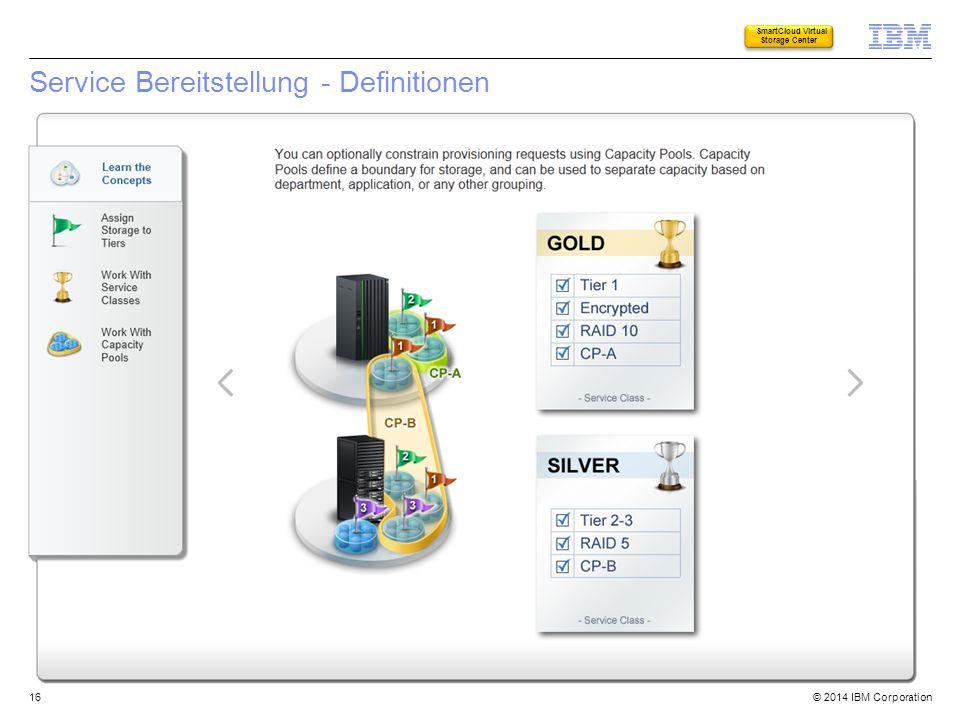 Service Bereitstellung - Definitionen