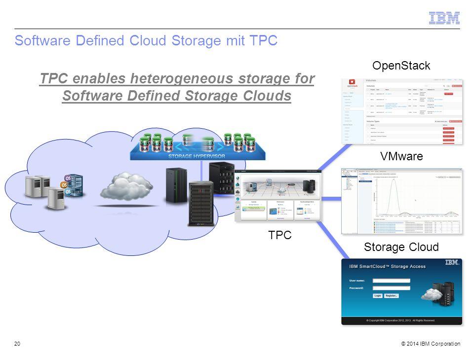 Software Defined Cloud Storage mit TPC