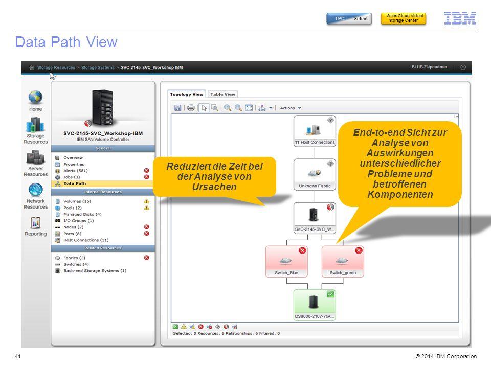 TPC Select SmartCloud Virtual Storage Center. Data Path View.